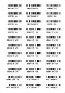 barcodesheet
